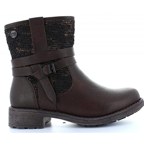 XTI Botines de Mujer 28714 Combinado Marron Talla 36: Amazon.es: Zapatos y complementos