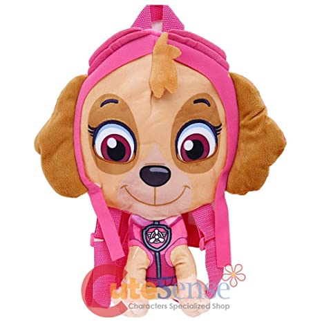7ca0f8976a8c Amazon.com  Paw Patrol Skye Plush Doll Backpack 14