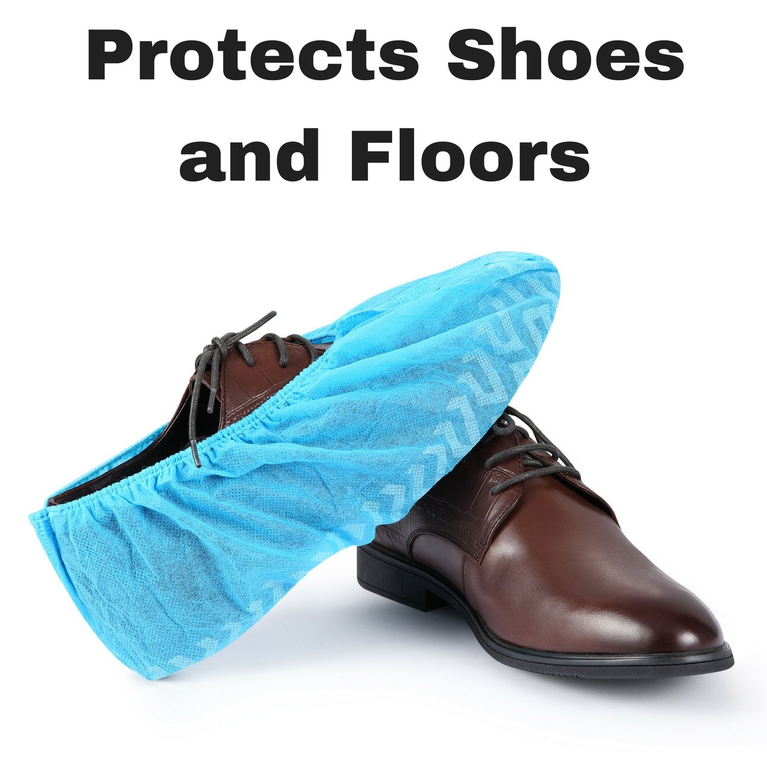 MIFFLIN Disposable Shoe Covers (Blue, 120 Pieces) Durable Boot Covers, Non-Slip Polypropylene, One Size Fits Most by MIFFLIN (Image #3)