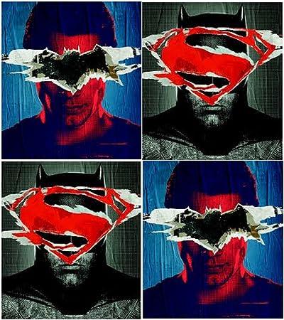 Batman Superman Movie Poly Folders - 4 Pack: Amazon.es: Oficina y ...