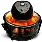 Geepas Turbo Halogen Oven 12 litres & Accessories   60 Minutes Timer & Adjustable Temperature Dial   1400W Convection Air Fryer Cooker   Ideal for Chicken Roast, Vegetables, Chips - 2 Years Warranty