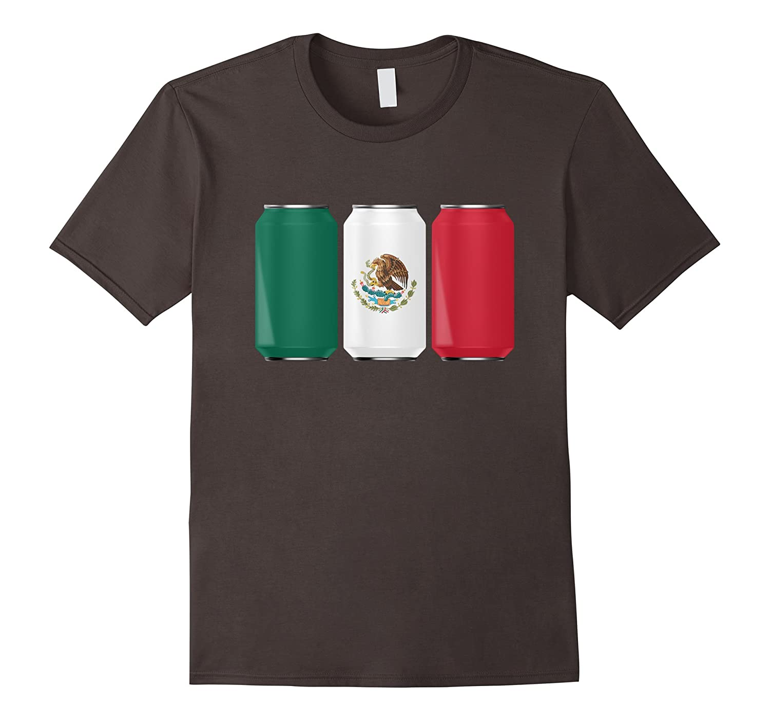 Patriotic Beer Cans Mexico w/ Mexican Flag Shirt-Art