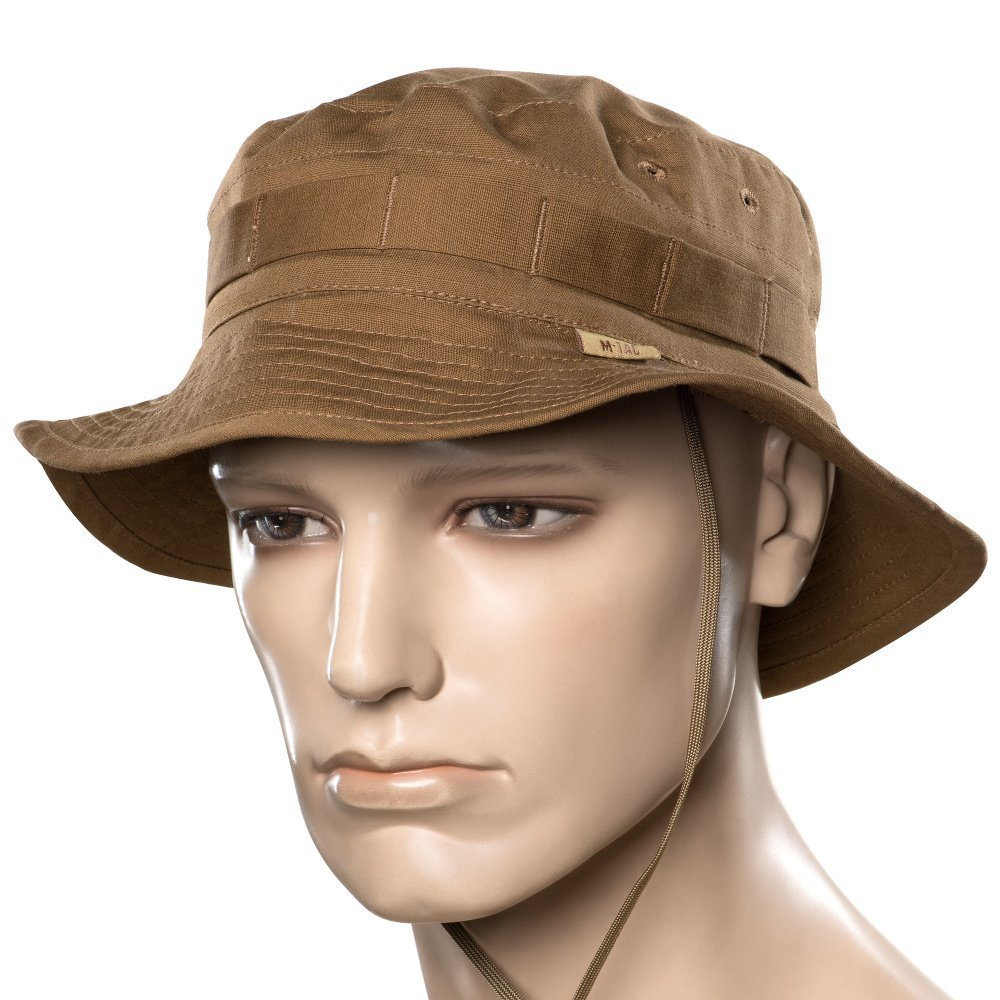 Mens panama hat - boonie hats - military army tactical - with neck flap -  for men (Coyote Brown 788908c47bb