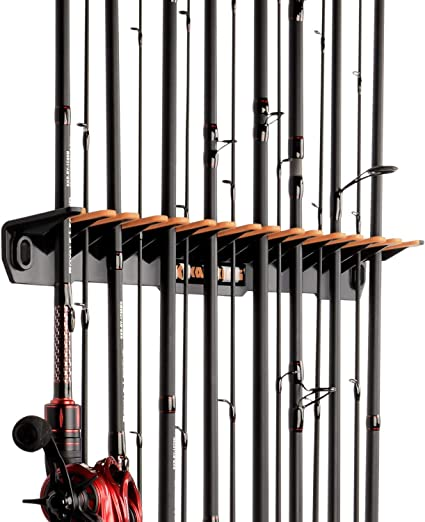 Horizontal Fishing Rod Rack Reel Combos Storage Pole Holder Vertical Wall Mount