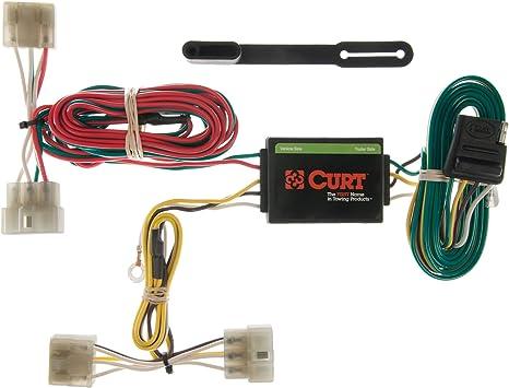 amazon.com: curt 55371 vehicle-side custom 4-pin trailer wiring harness for  select kia sportage: automotive  amazon.com