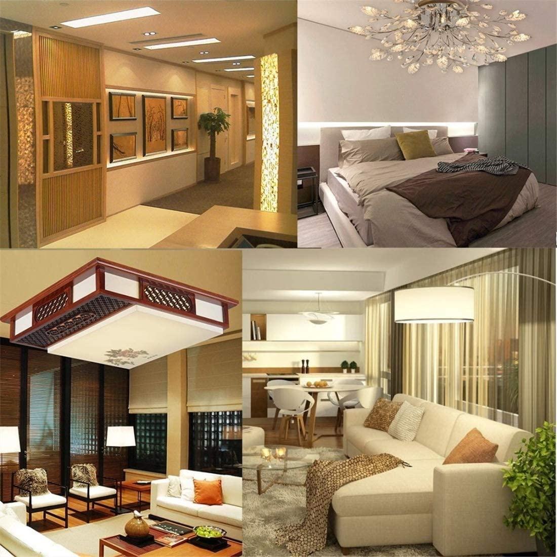 Color : Warm White Jidan LED Corn cob Light Bulb Base LED Bulbs 6PCS E12 7W AC 220-240V 152LEDs SMD 3014 Energy-Saving LED Silicone Lamp HBDZ