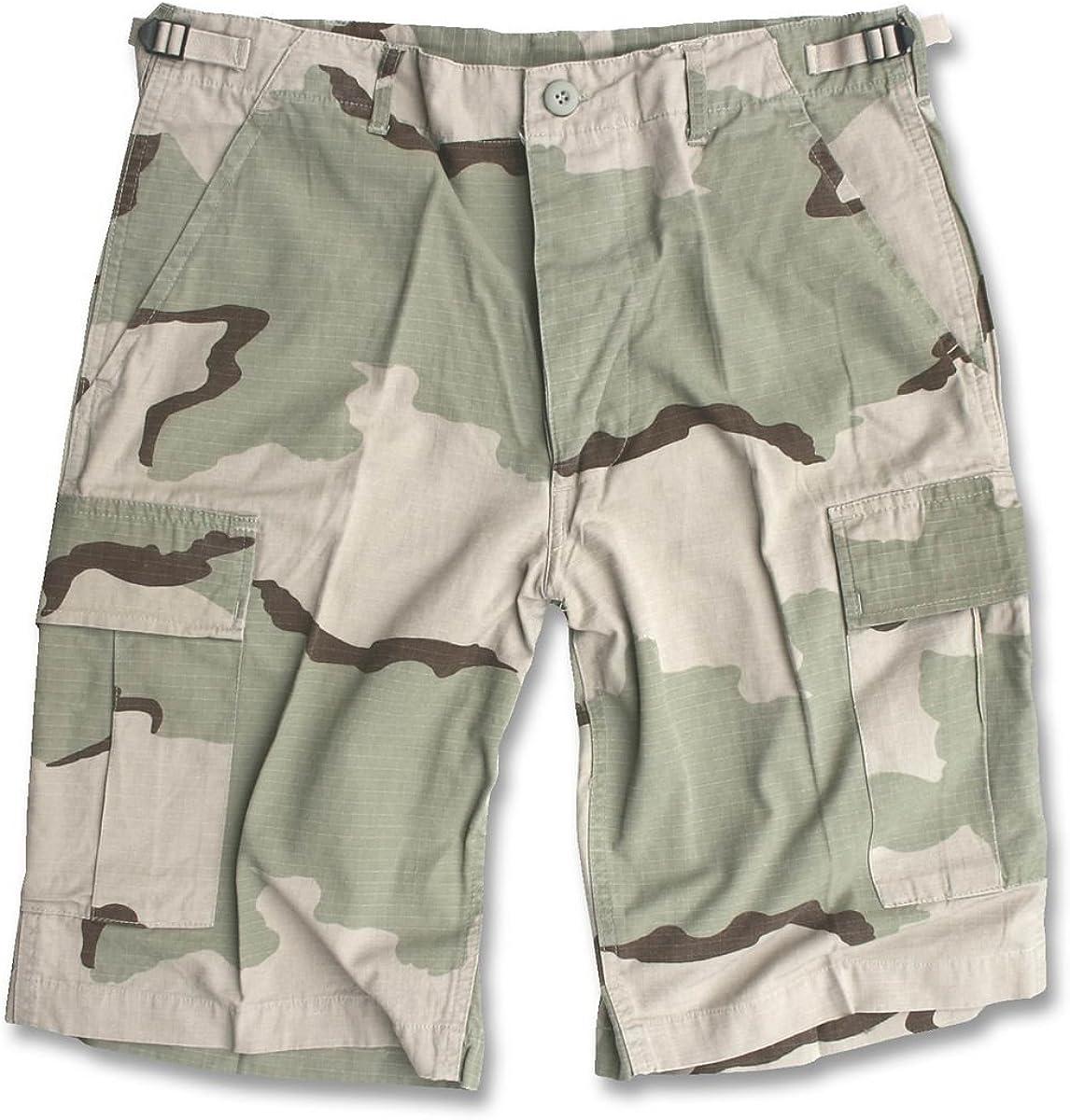 Camooutdoor Mens Bermuda Ripstop Cargo Combat Army Style Shorts Fishing Desert