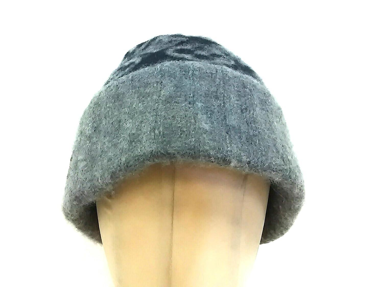(ルイヴィトン) LOUIS VUITTON 帽子 黒×グレー M71951 ボネスキー モノグラム 【中古】 B07F69CVW5  -