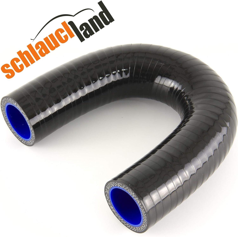 Schlauchland Silikonbogen 180/° Innendurchmesser 76mm schwarz***