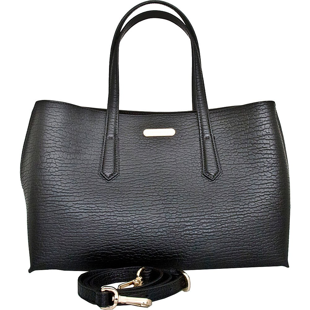 Leatherbay Alia Leatherbay Tote Bag//Black Travel Tote