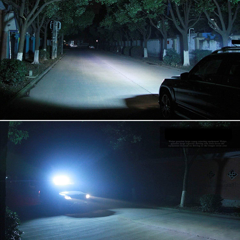 SKYWORLD Barra de luz LED 4 18W Focos LED Tractor con cableado para Coche SUV Off-road Cami/ón Moto Barco 20 126W Led Off Road Light Bar para 4x4 ATV UTV Combo focos Inundaci/ón Trabajo L/ámpara