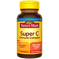 Nature Made Super C Immune Complex Tablets with Vitamin C, D and Zinc, 60 Tablets (Packaging May Vary)