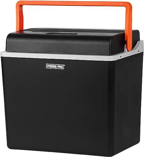 Nevera eléctrica Strend Pro para el coche y el camping, 30 L, 12 V/230 V, función de refrigeración y calor, compresor de nevera con modo ecológico, ...