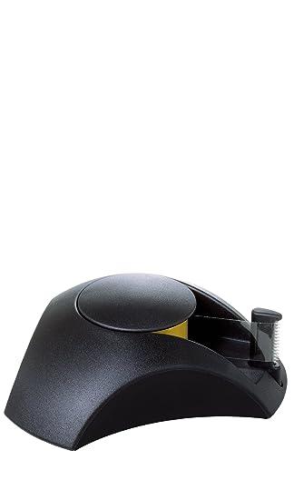 Han Delta - Dispensador de celo (116 x 103 x 35 mm), color negro: Amazon.es: Oficina y papelería