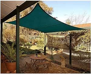 El sombreado verde de tela jardín de la sombra de toldos de protección solar hidratante Pergola Toldo Auto en Pergola Planta Terraza Patio Patio Patio jardín Césped (Size : 5*5m(16.4*16.4ft)) :