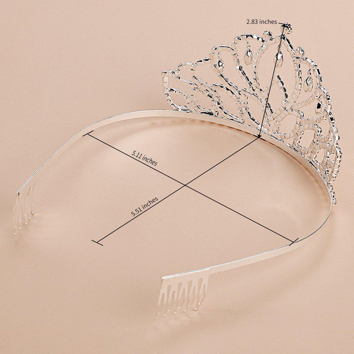 Elegant Tiara Crystal Hair Crown - Rhinestones Headband for Queen, Bridal, Princess in Wedding, Party and Birthday 1-2 - by NIPOO by Nipoo (Image #5)