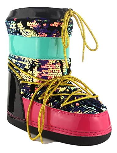outlet store a4326 cb0c7 CAPE ROBBIN MB-11 Multi Colored Mermaid Sequence MoonBoots