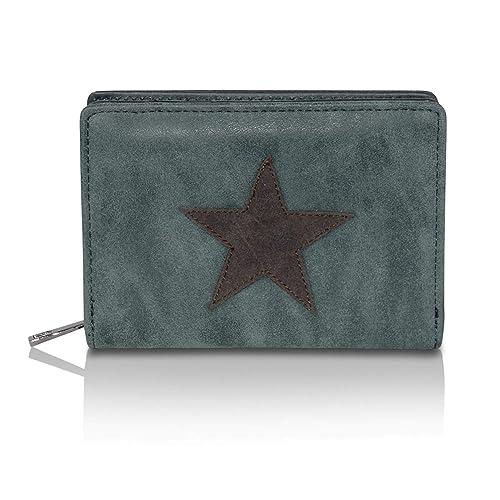 Glamexx24 Cartera con estampado de estrellas, cartera Cartera monedero de diseño vintage.