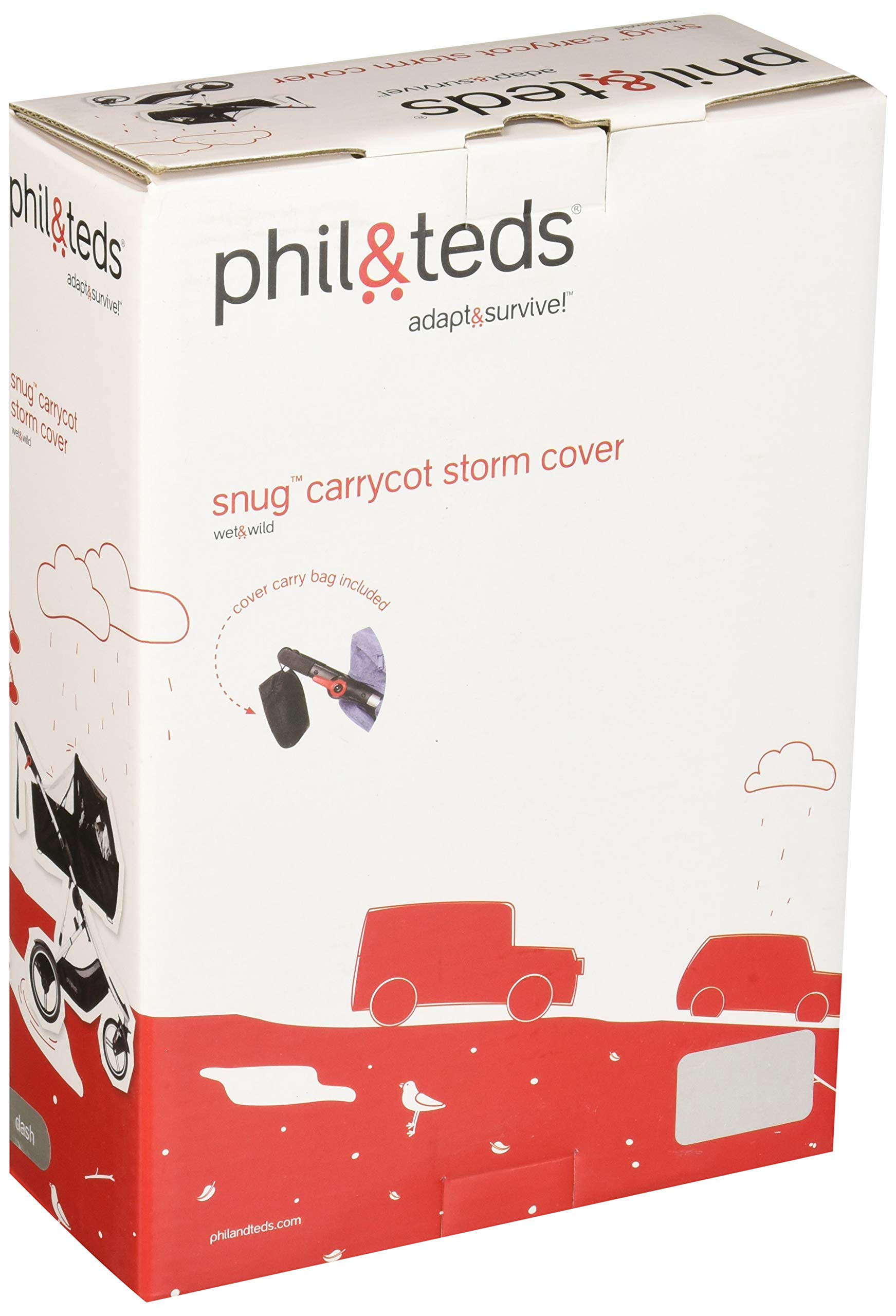 phil&teds Storm Cover for Dash Snug Carrycot by phil&teds (Image #2)
