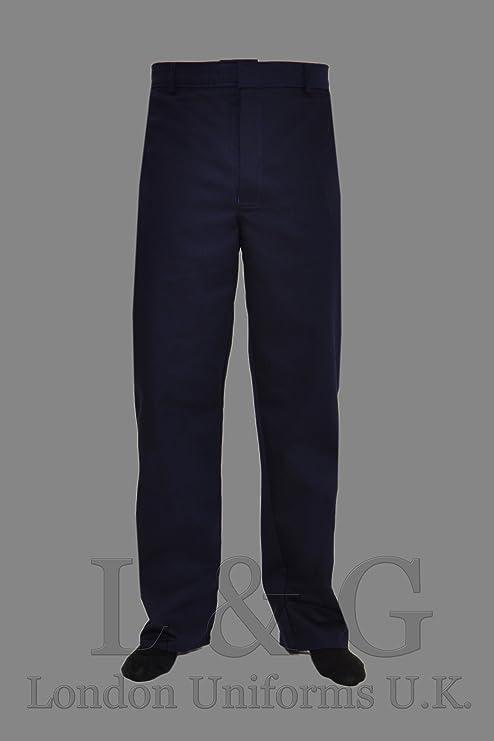 L&G London Pantalon de trabajo azul marino mecanico soldadores fuego retardante talla 50 (XL)