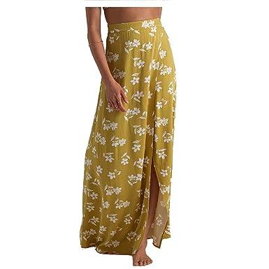 d369ad38c2a Billabong Women s High Heights Maxi Skirt Citrus Medium at Amazon Women s  Clothing store