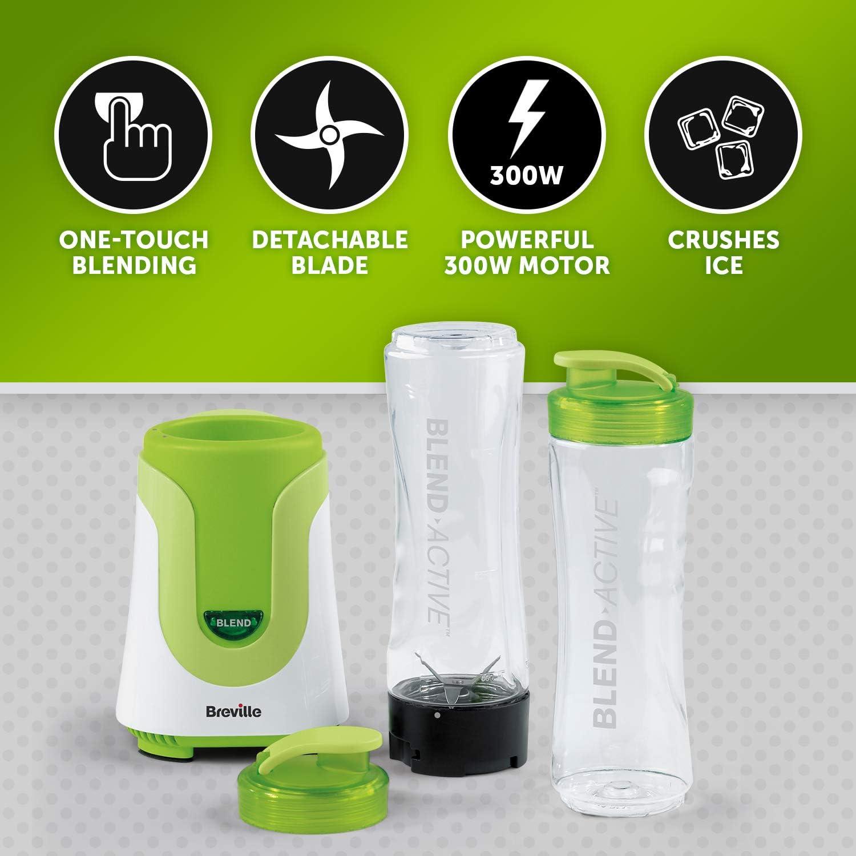 Breville Blend-Active Batidora de vaso 0.6L Verde, Color blanco ...