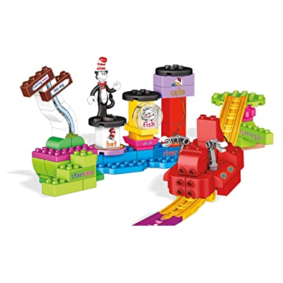Mega Bloks Dr. Seuss Over The River Thingamajigger Building Set, 76 Pieces: Toys & Games