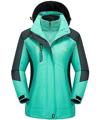 Yifun Outdoor Womens Mountain 3 in 1 Waterproof Insulated Ski Snow  Interchange Jacket Rain Coat 8bbbe2b91