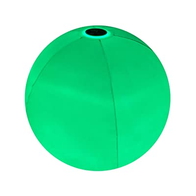 Poolcandy Illuminated LED Beach Ball - Waterproof IP68 Floating Beach & Pool Indoor or Outdoor Ball with LED Color Changing - Perfect for Night Light, Party Decor for Swimming Pool,Beach, Lake.: Toys & Games