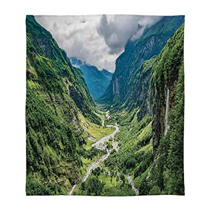 Awesome Amazon Com Tecbillion Super Soft Blanket Landscape For Onthecornerstone Fun Painted Chair Ideas Images Onthecornerstoneorg