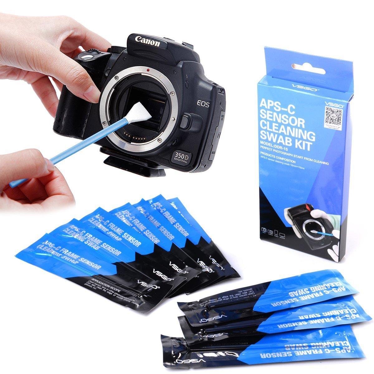 VSGO APS-C Frame (CCD/CMOS) Digital Camera Sensor Cleaning Kits (15 x 16mm Sensor Cleaning Swabs + 15ml Sensor Cleaner), Black (DDR-16S) Universal Electrical Supply Ltd VSGO DDR-16S