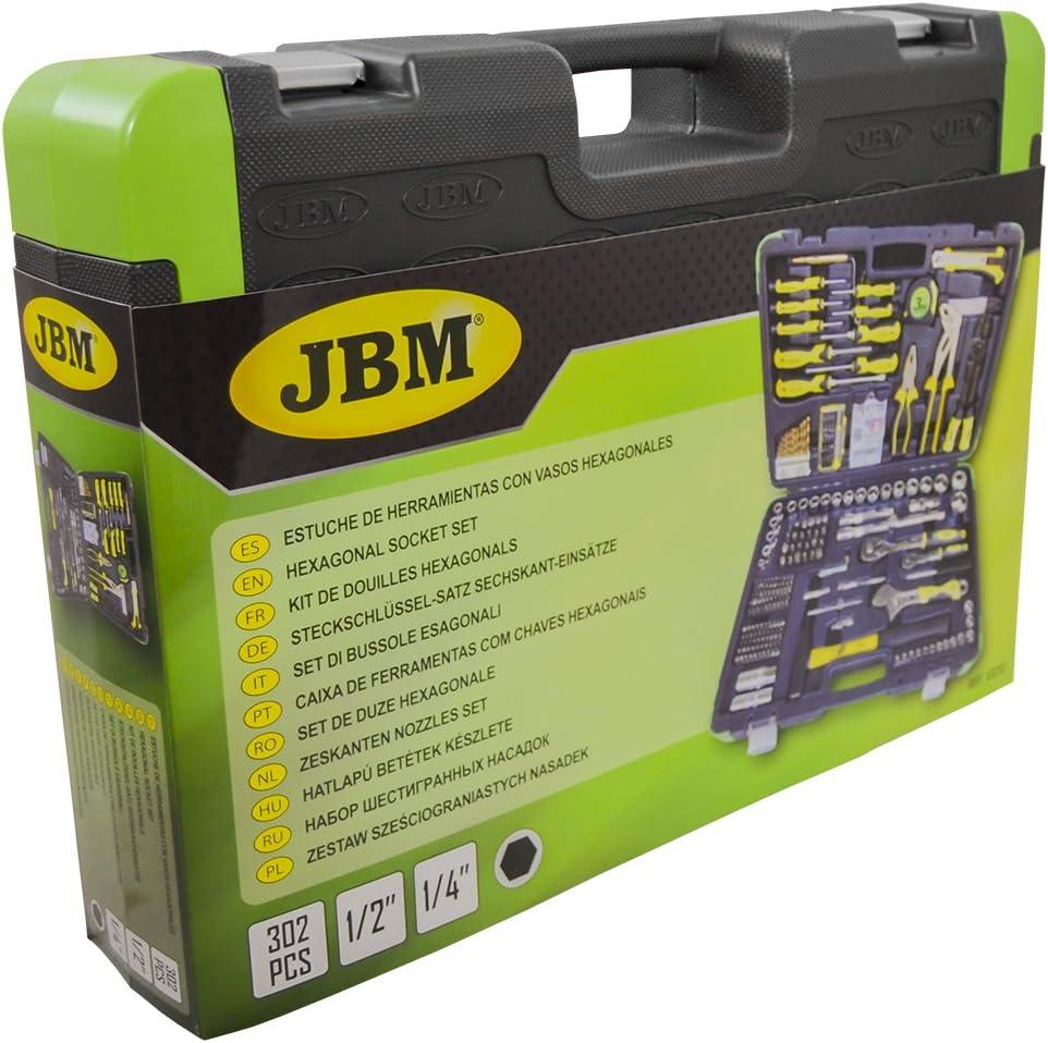 JBM 53212 Estuche de Herramientas 303 Piezas/con Vasos hexagonales, 0 V, Set: Amazon.es: Bricolaje y herramientas