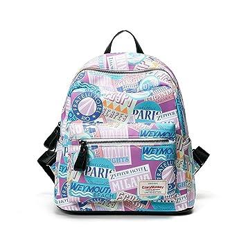 ... escolares moda floral Pijo Mochila escolares niño mochilas mujer casual Mochila bolsas deporte viaje - alta calidad - baratas (C): Amazon.es: Equipaje