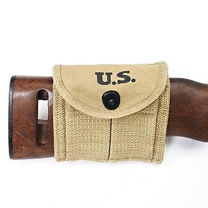 Amazoncom Us Wwii M1 Carbine Butt Magazine Pouch Ww2 Gun