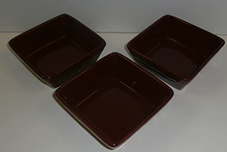 Home And Garden Party Country Garden Square Serving Dishes   Set Of 3 Berry  Color