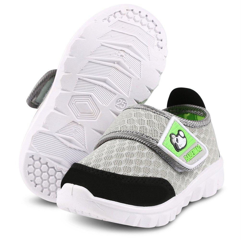DADAWEN Baby's Boy's Girl's Mesh Light Weight Sneakers Running Shoe Gray US Size 4 M Toddler by DADAWEN (Image #6)