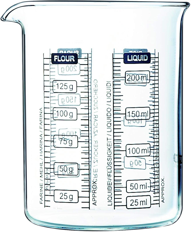 Pyrex Kichen Lab - Vaso medidor, 250 ml