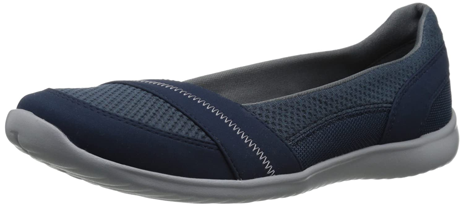 CLARKS Women's Charron Bella Flat B00U7LBCUY 9 B(M) US|Navy Synthetic