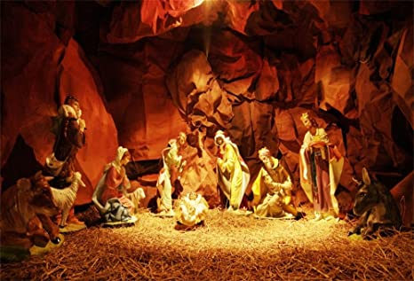 lfeey 10x8ft christmas manger scene backdrop christ child birth of jesus bethlehem holy family mary joseph