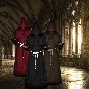Seebesteu Halloween Disfraz de Monje Mago Sacerdote Túnica ...