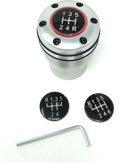 Pommeau de levier de vitesse avec /éclairage LED rouge avec bague de marche arri/ère