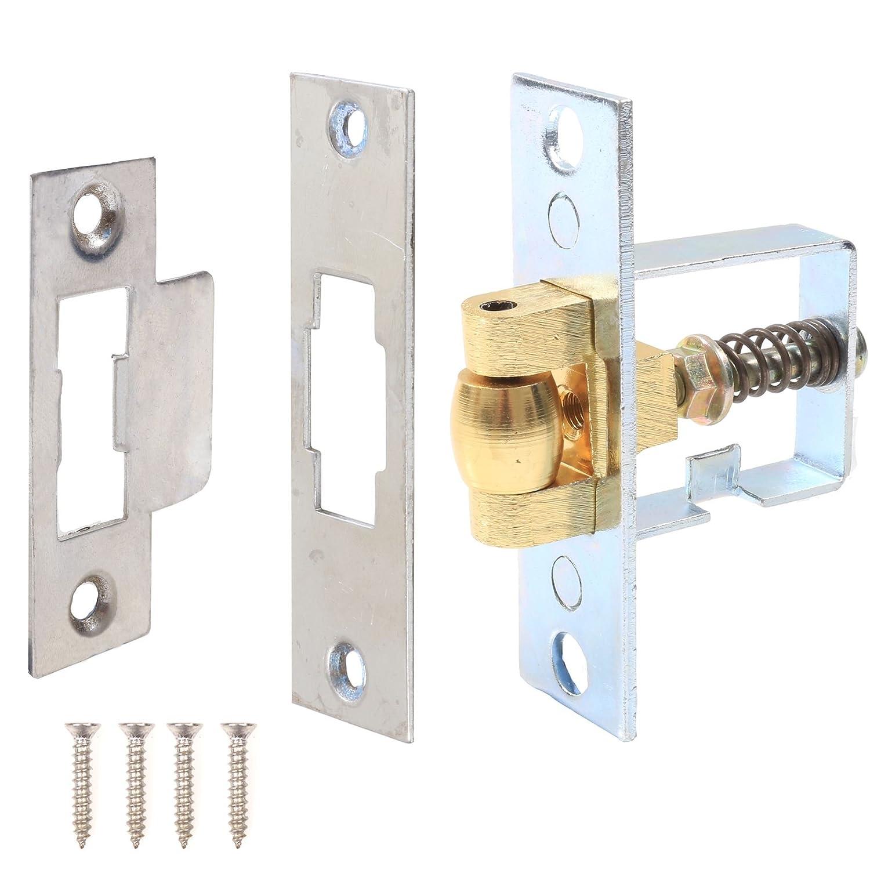 internal doors NEW Adjustable Roller Catch Brassed 5 Pack DIY door fixing