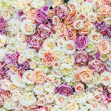 Amazon Com Ofila Romantic Flowers Backdrop 8x8ft Wedding