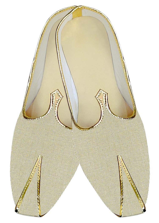 Mens Beige Jute Wedding Shoes Ethnic MJ014143