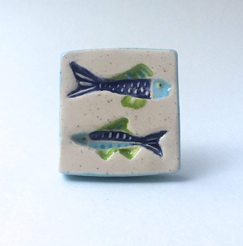Amazon Com Nautical Knob Colorful Fish Knob Fish Drawer Pulls