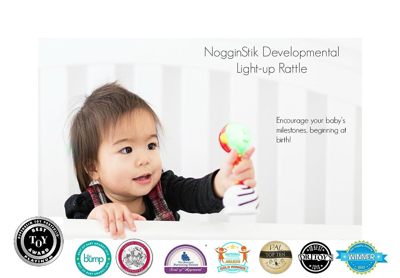 12 months SmartNoggin NogginStik Developmental Light-Up Rattle Encourage Developmental Milestones from Infant