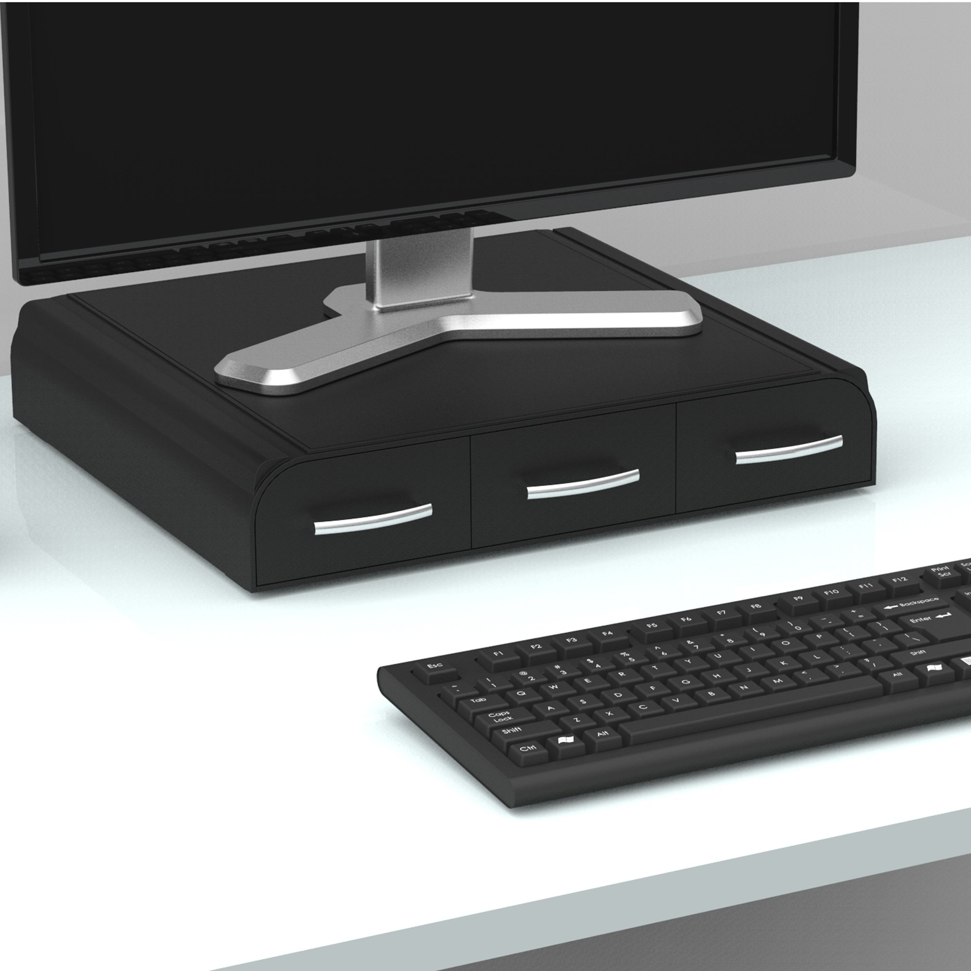Mind Reader PC, Laptop, IMAC Monitor Stand and Desk Organizer, Black by Mind Reader (Image #4)