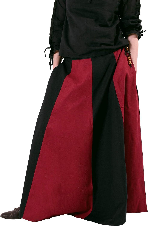 Wikinger LARP Damen lang Mittelalter Kleidung Magd Battle-Merchant Mittelalterlicher Rock weit ausgestellt div Farben S-XXL