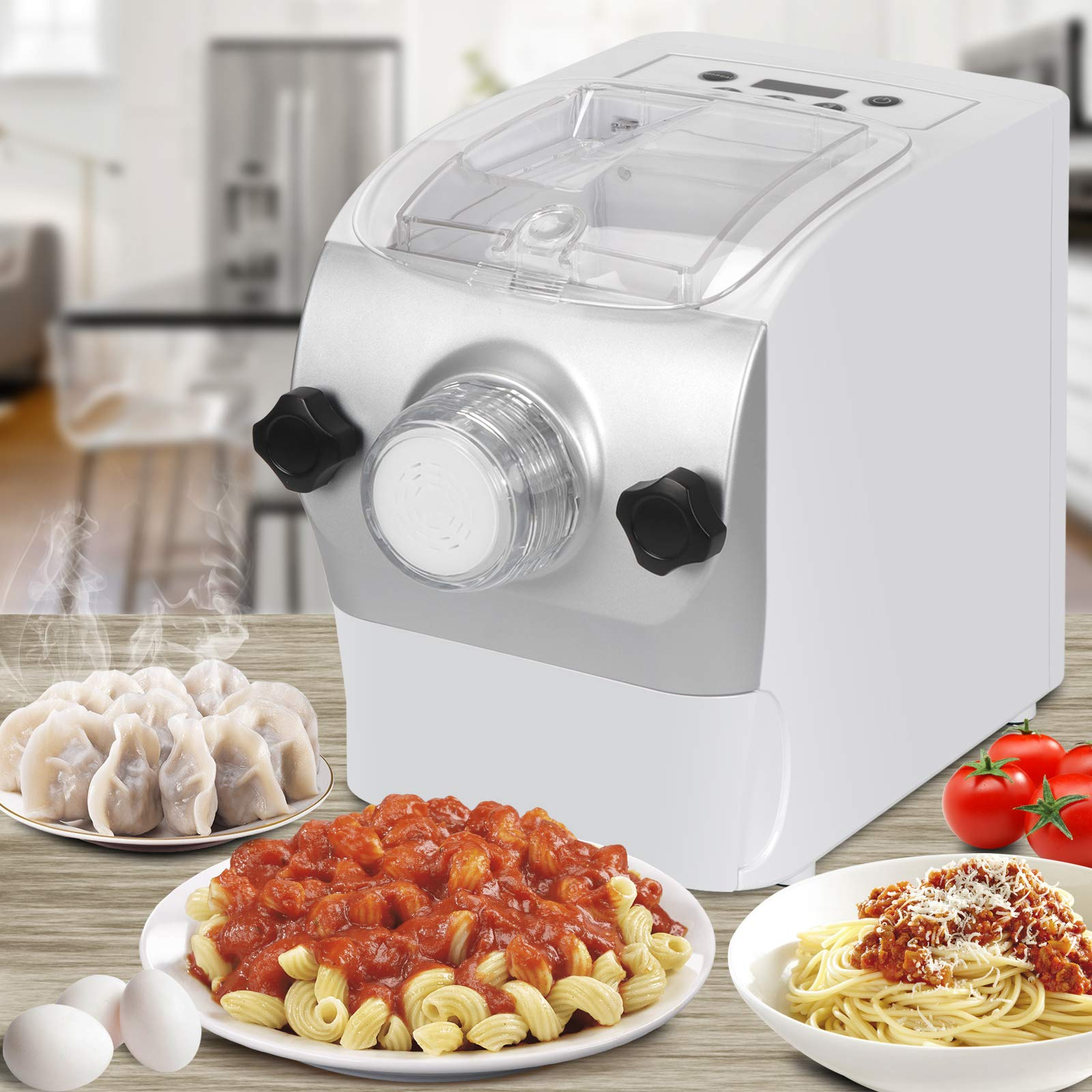 ZENSTYLE Electric Pasta Maker Automatic Noodle Maker Spaghetti Lasagna Fettuccine Macaroni Bonus Ravioli Sausage Machine with Mixes, Extrudes & Kneads by ZENSTYLE