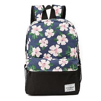 Sonrisa Emoji cara Imprimir Mochila de moda femenina colorido lienzo Bookbags mochila de viaje para niñas adolescentes Mochila escolar: Amazon.es: Equipaje